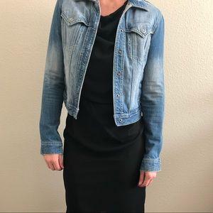 BCBG GIRLS Cropped distressed denim jean jacket